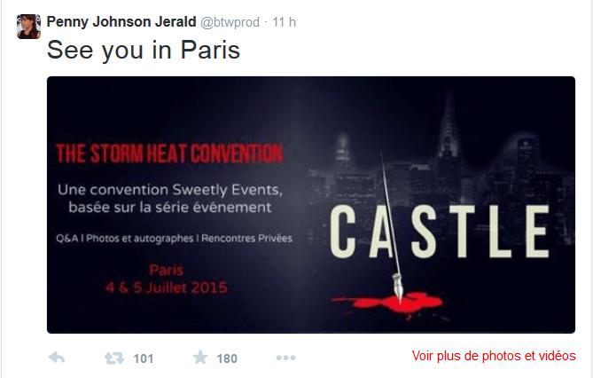 L'interprète du Captain Gates confirme sa présence à la convention Castle les  4 et 5 juillet à Paris